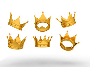 Golden Crowns In Various Poses