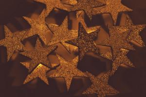 Golden Decorative Stars