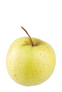 Golden Delicious Apple On White