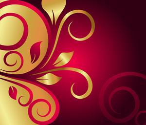 Golden Flora Festival Background