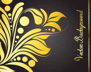 Golden Flora Vector Banner Design