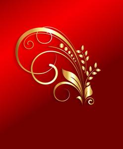 Golden Floral Art