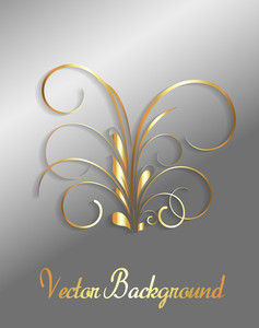 Golden Floral Holiday Greeting