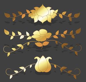 Golden Floral Separators