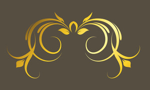 Golden Floral Vector