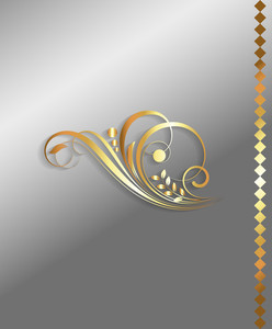 Golden Flourish Decorative Elements