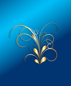 Golden Flourish Design Element