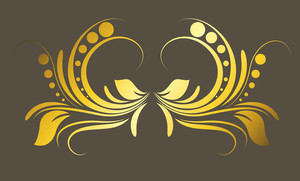 Golden Flourish Elements Vector