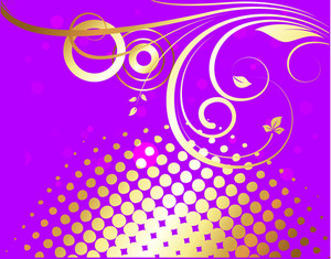 Golden Flourish Halftone Background