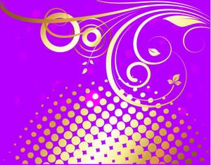 Golden Flourish Halftone Background