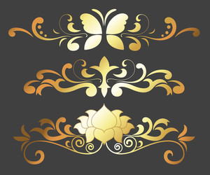 Golden Flourish Separators