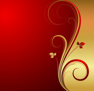 Golden Flourish Xmas Background