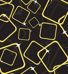 Golden Frames Pattern Background