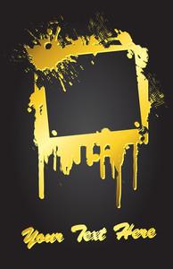 Golden Grunge Banner