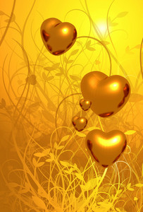 Golden Heart Background