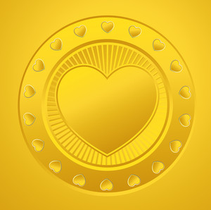 Golden Heart Coin
