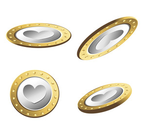 Golden Heart Coins