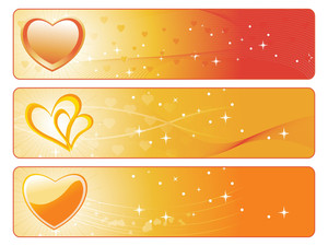 Golden Heart-shape Banner