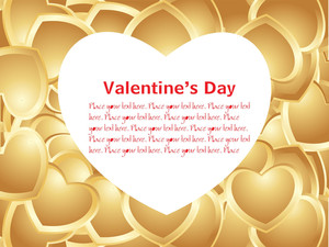 Golden Heart-shape Love Banner
