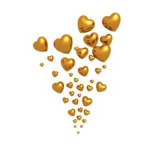 Golden Hearts Floating