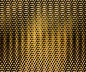 Golden Hex Metal Background