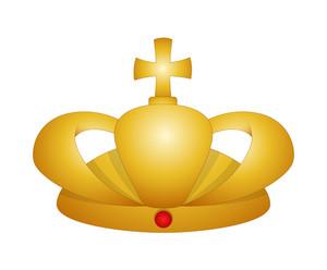 Golden King Crown Vector