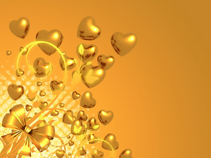 Golden Love Background
