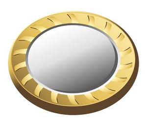 Golden Metallic Coin Vector Illustration