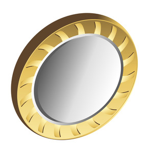 Golden Metallic Coin Vector