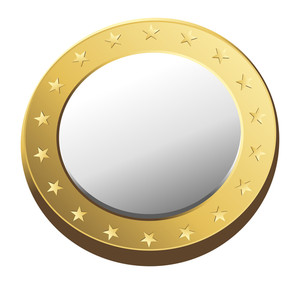 Golden Metallic Coin