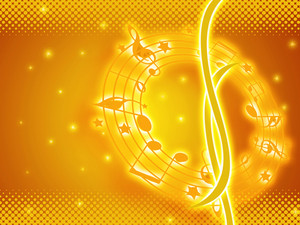 Golden Music Background