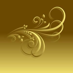 Golden Ornate Floral