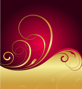 Golden Ornate Flourish Background