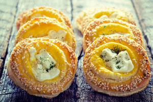 Golden Pastry With Cheese