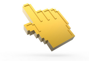 Golden Pixel Hand