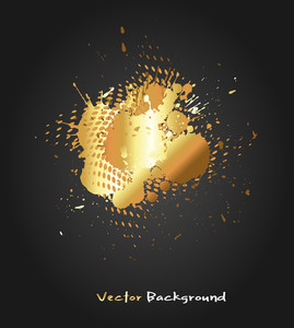 Golden Scatters Vector Background