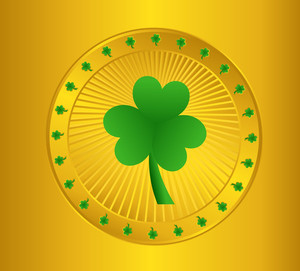 Golden Shamrock Coin Element