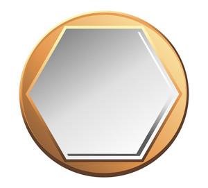 Golden Silver Coin Banner