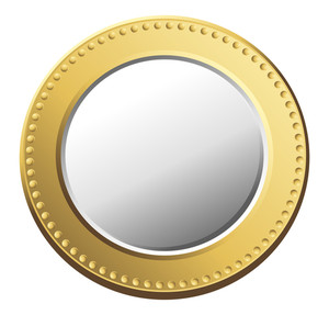 Golden Silver Coin Vector