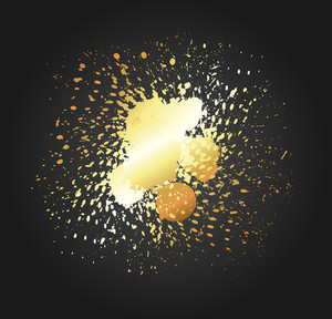 Golden Splash Vector Backdrop