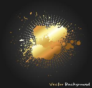 Golden Splash Vector