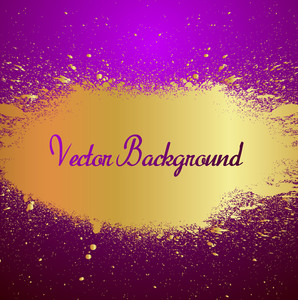 Golden Splatter Background