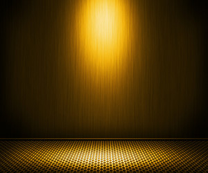 Golden Spotlight Metal Interior Background
