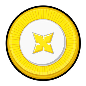 Golden Star Coin Vector Design