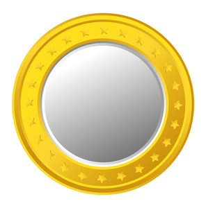 Golden Stars Coin Vector