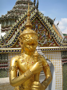 Golden Statue In Wat Phra Kaeo