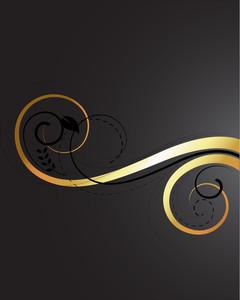 Golden Swirl Background