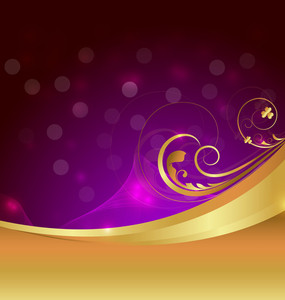 Golden Swirl Bokeh Design Background