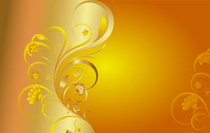Golden Swirl Ornate Flourish Background