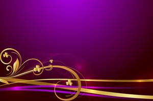 Golden Swirl Sparkles Background